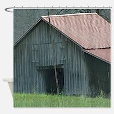 Old Farm Barn Shower Curtain