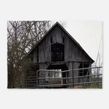 Old Weathered Farm Barn 5'x7'Area Rug