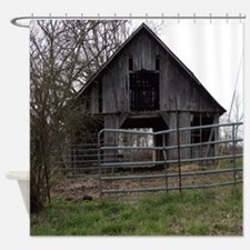 Old Weathered Farm Barn Shower Curtain