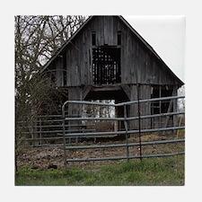 Old Weathered Farm Barn Tile Coaster