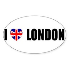 I Love London Oval Decal