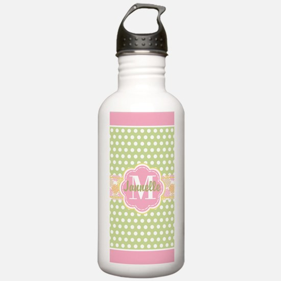 Personalized Green and Water Bottle