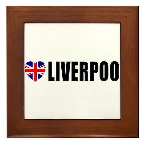 I Love Liverpool Framed Tile