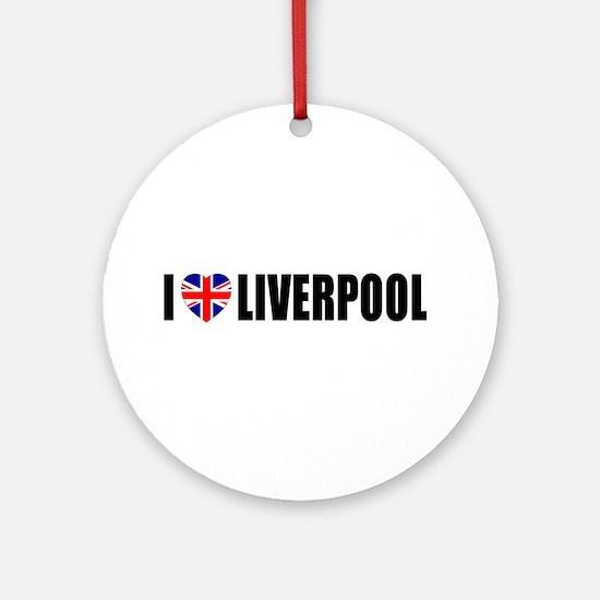 I Love Liverpool Ornament (Round)