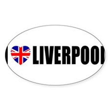 I Love Liverpool Oval Decal