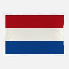 Netherlands Flag Oil Painting Pillow Case