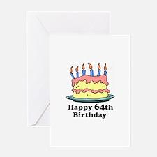 Happy 64th Birthday Greeting Card