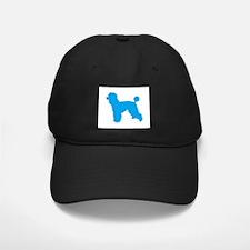 Poodle Lt Blue 1C Baseball Hat