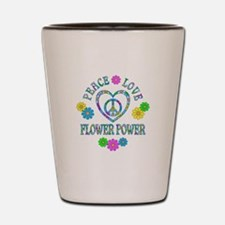 Peace Love Flower Power Shot Glass