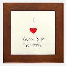 I love Kerry Blue Terriers Framed Tile