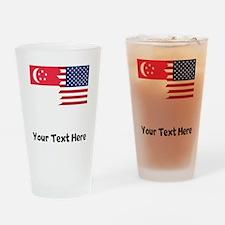 Singaporean American Flag Drinking Glass