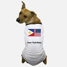 Filipino American Flag Dog T-Shirt