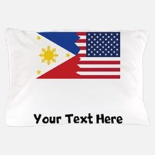 Filipino American Flag Pillow Case