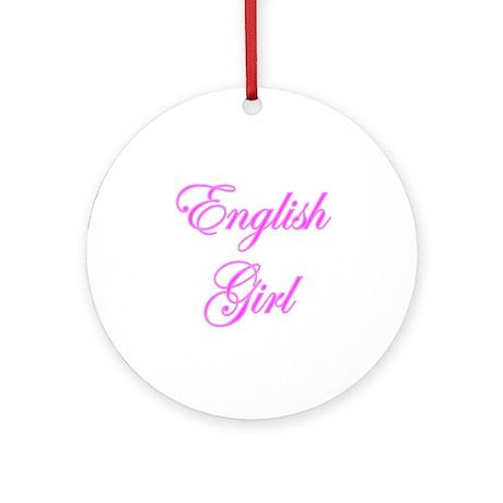 English Girl Ornament (Round)