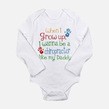Chiropractor Like Dadd Long Sleeve Infant Bodysuit