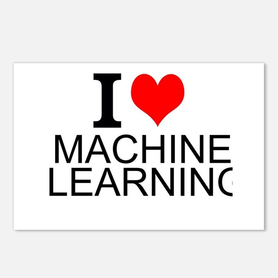 I Love Machine Learning Postcards (Package of 8)
