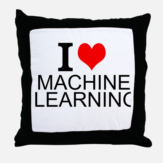 I Love Machine Learning Throw Pillow