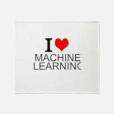 I Love Machine Learning Throw Blanket