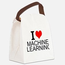 I Love Machine Learning Canvas Lunch Bag