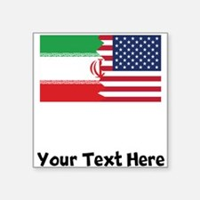 Iranian American Flag Sticker