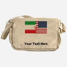 Iranian American Flag Messenger Bag