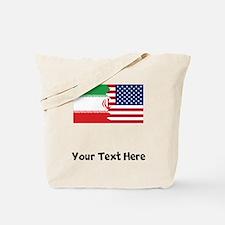 Iranian American Flag Tote Bag