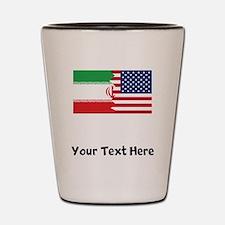 Iranian American Flag Shot Glass