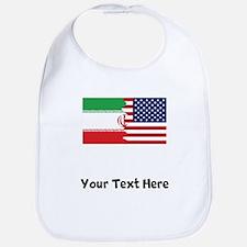 Iranian American Flag Bib
