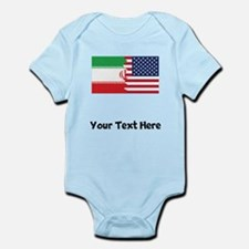 Iranian American Flag Body Suit