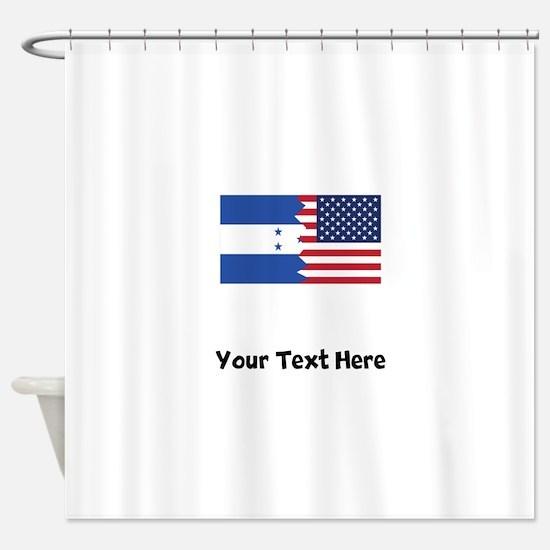 Honduran American Flag Shower Curtain
