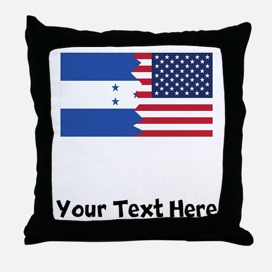 Honduran American Flag Throw Pillow