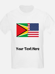 Guyanan American Flag T-Shirt