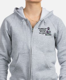 BE KIND TO ALL CREATURES Zip Hoody