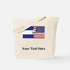 El Salvadorian American Flag Tote Bag