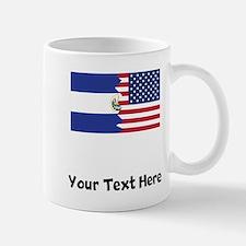 El Salvadorian American Flag Mugs