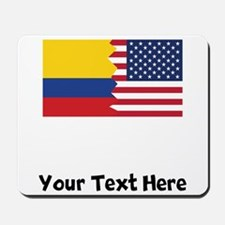 Colombian American Flag Mousepad