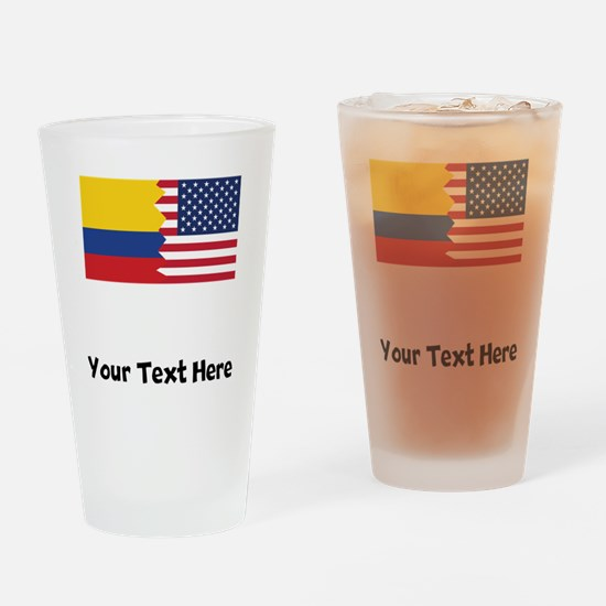 Colombian American Flag Drinking Glass