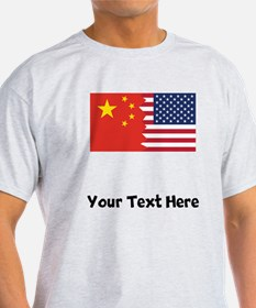 Chinese American Flag T-Shirt