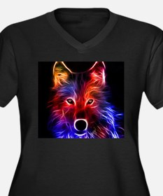 Neon Wolf Plus Size T-Shirt