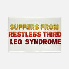 Restless Third Leg Syndrome Rectangle Magnet