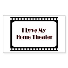 Theater Decor Rectangle Decal