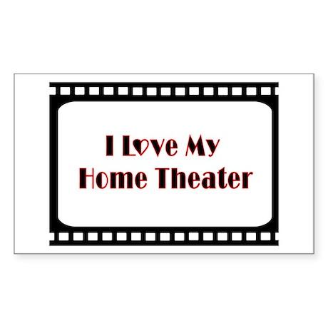 Theater Decor Rectangle Sticker