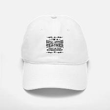 Funny Social Studies Teacher Baseball Baseball Cap