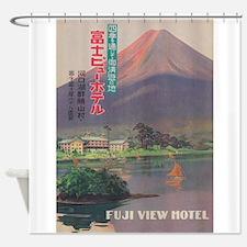 Fuji View Hotel, Vintage Japan Trav Shower Curtain