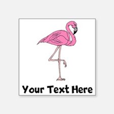 Flamingo On One Leg (Custom) Sticker