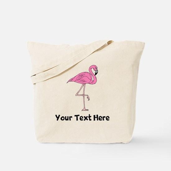 Flamingo On One Leg (Custom) Tote Bag
