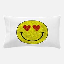 Smiley face hearts Pillow Case