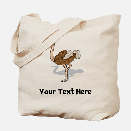 Brown Ostrich (Custom) Tote Bag