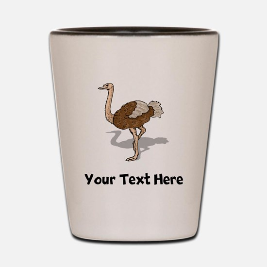 Brown Ostrich (Custom) Shot Glass