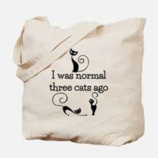 Three Cats Ago Humorous Tote Bag
